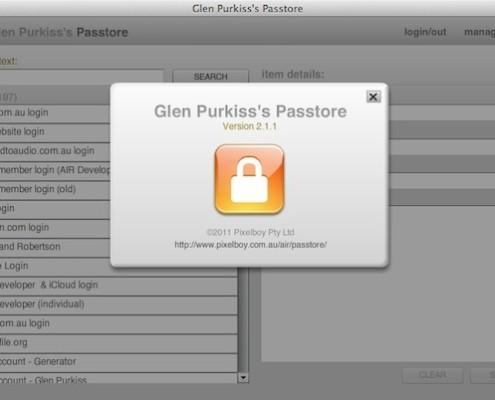 Glen Purkiss's Passtore
